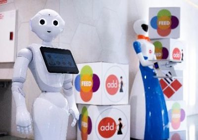 ArtificialExpo3 - Robots de Grupo ADD - Robot Camarera y Robot Pepper